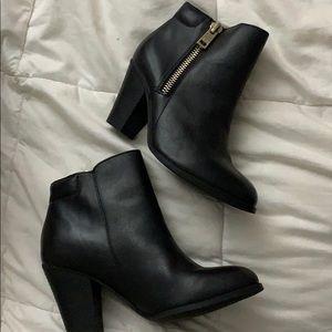 Black ankle booties